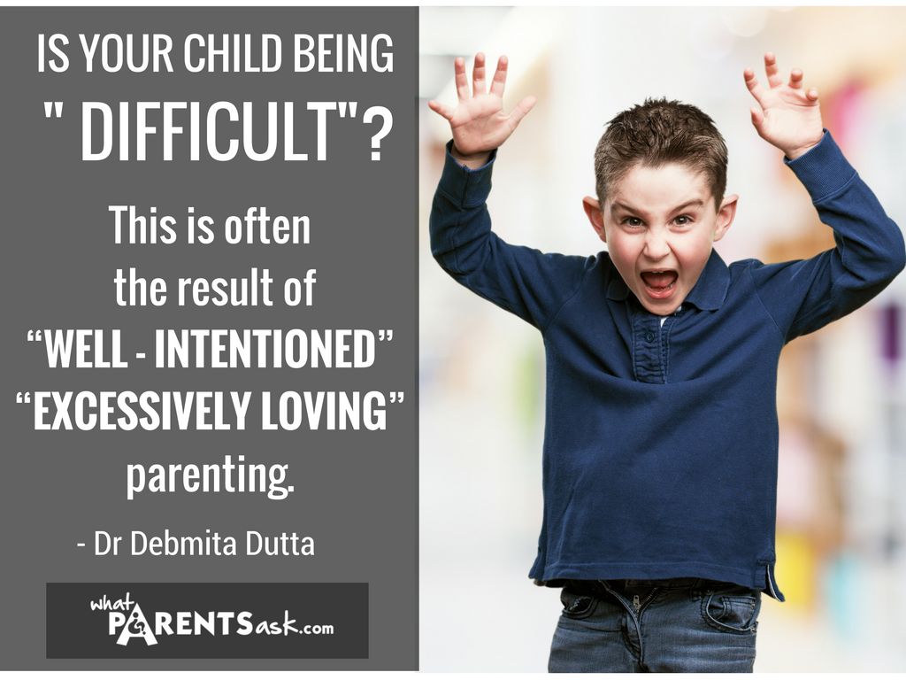 Difficulties in preschool are due to exessively loving parenting