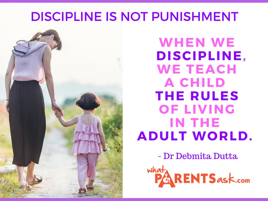 Discipline is not punishment