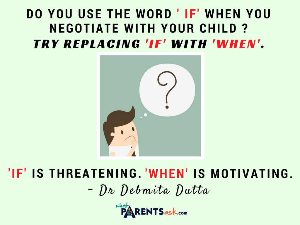 If is threatening - when is motivating
