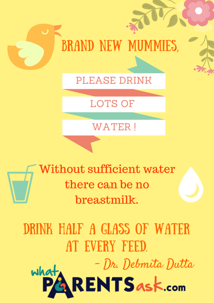 No Breastmilk without enough water