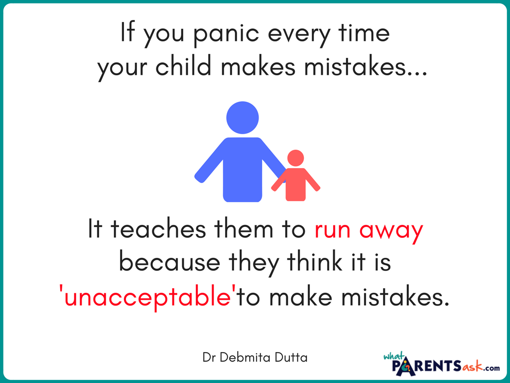 don't panic if your child makes a mistake