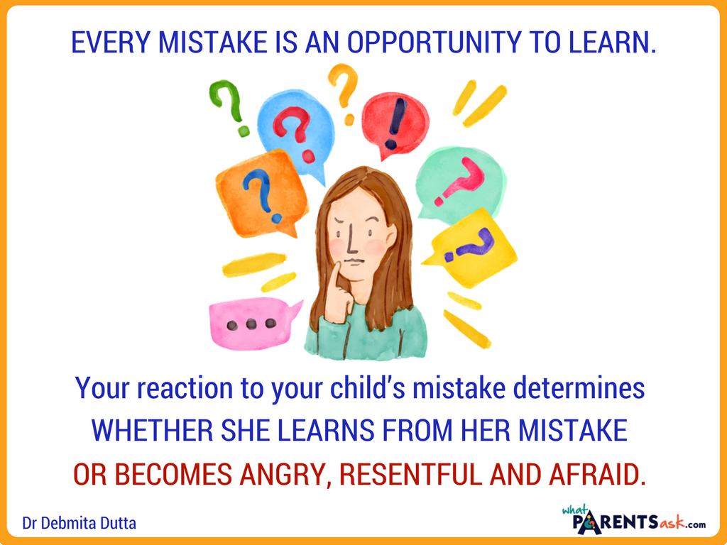 every mistake is an opportunity to learn