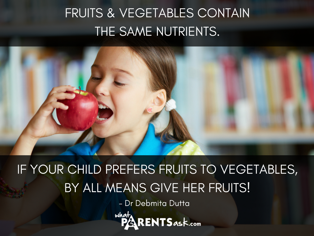 fruits and vegetables contain the same nutrients