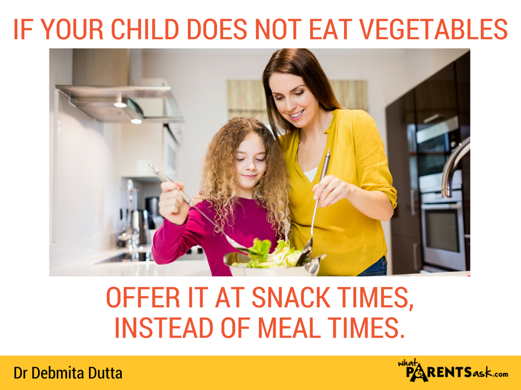 if your child does not eat vegetables