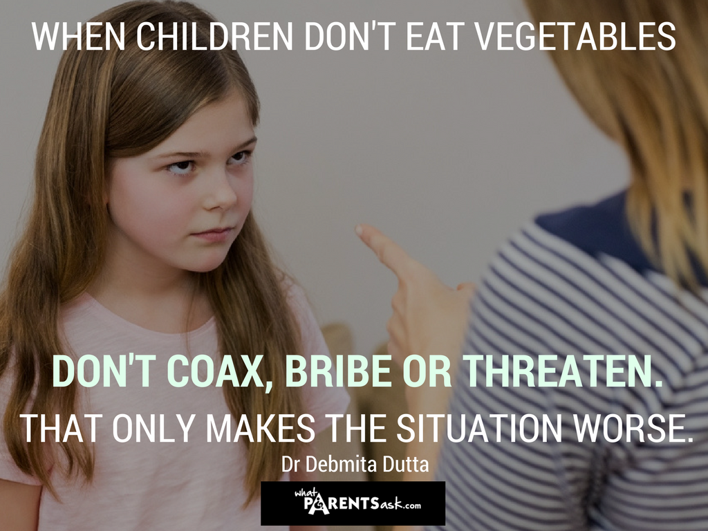when children don't eat vegetables