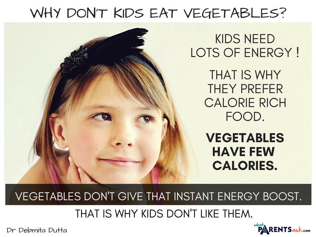 why don't kids eat vegetables