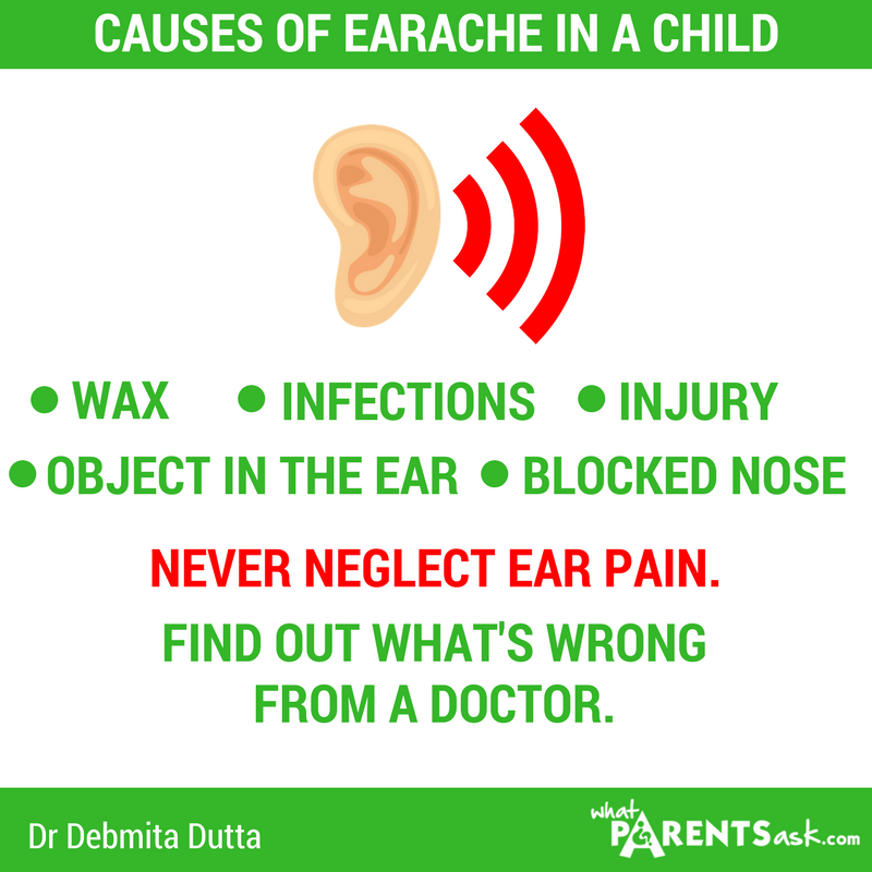 causes of earache in a child