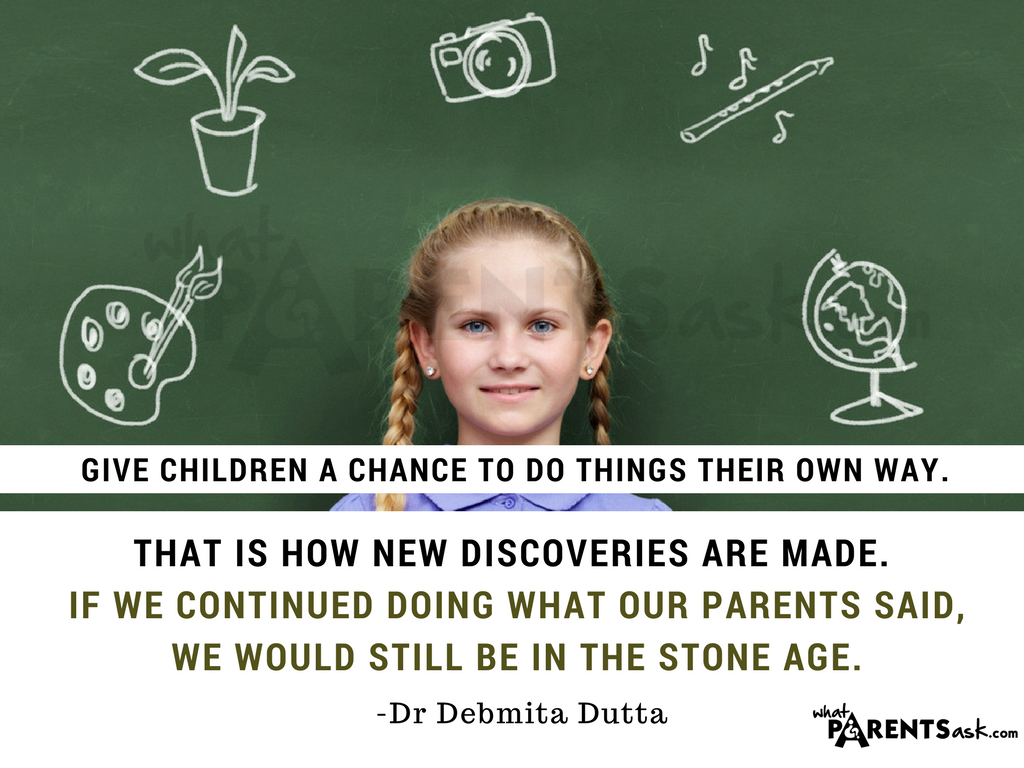 give children a chance to do things their way
