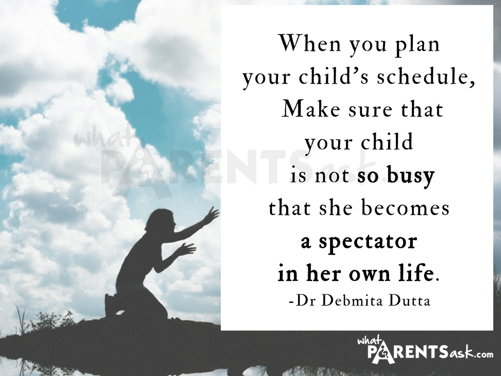 your child should not be a spectator in her life