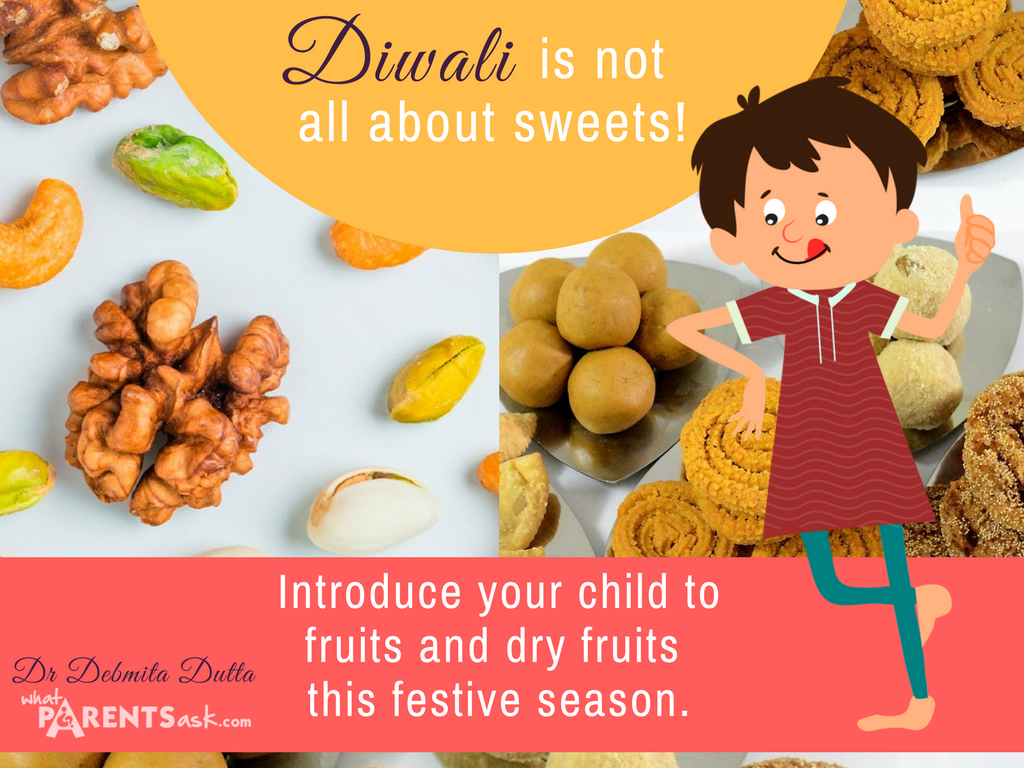 diwali is not just about sweets - there are healthy fruits and dry fruits too