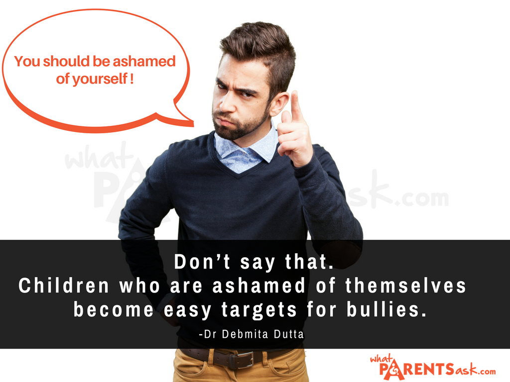 children who are ashamed of themselves they are bullied in school