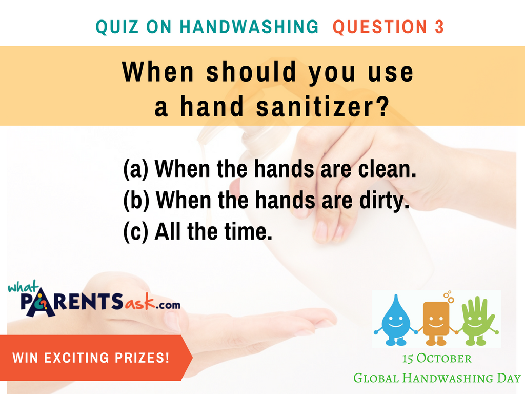global handwashing day when should you use a hand sanitizer