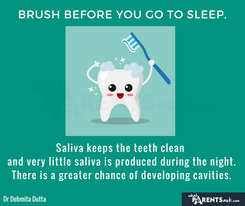 why is it important to brush before you sleep