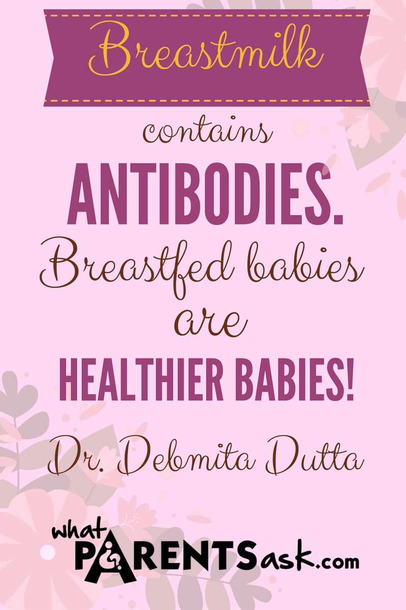 Breastmilk antibodies make babies healthier