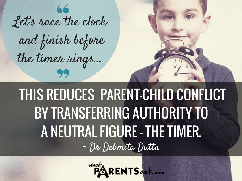 Encourage children to race against the clock