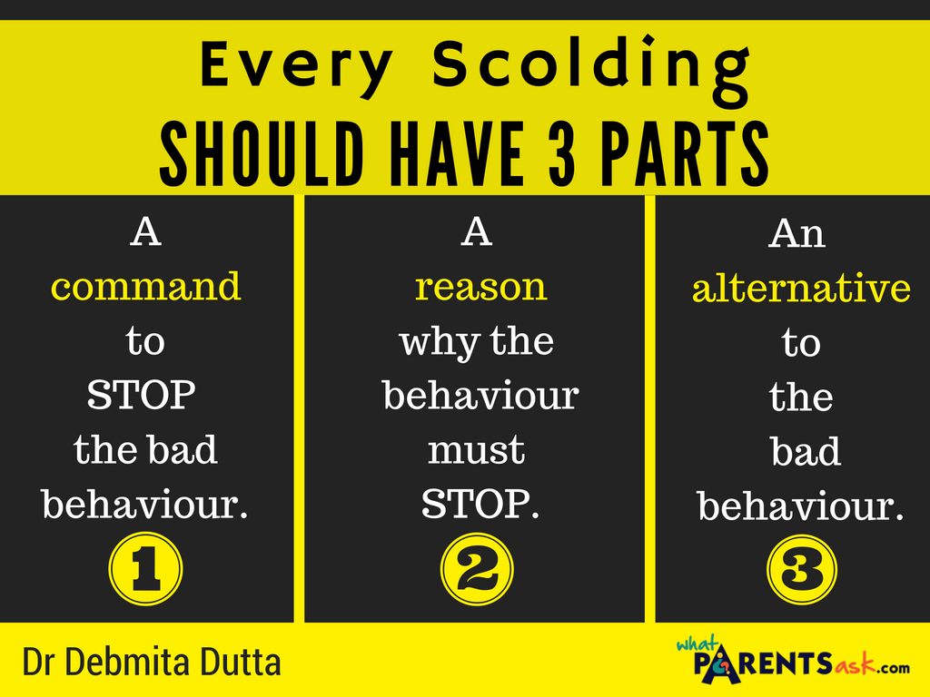 Every scolding should have 3 parts