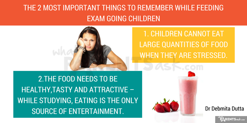 things to remember when feeding an exam going child