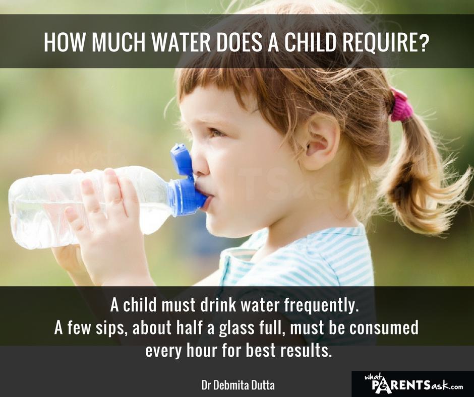 how much water should a child drink