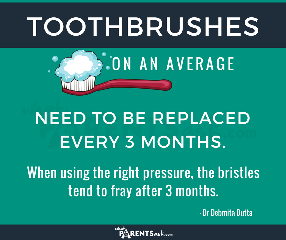 tooth brushes need to be replaced every 3 months