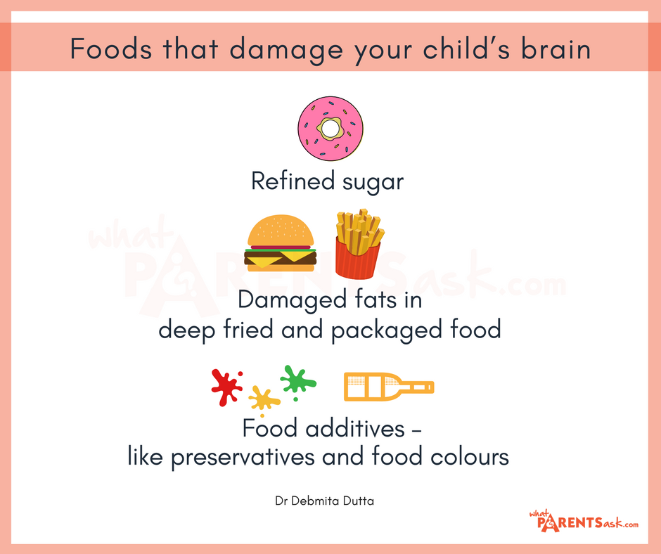 what are the foods that damage the brain