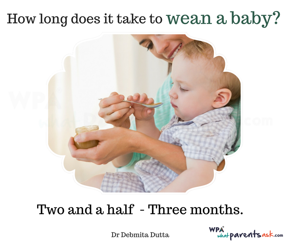 how long does it take to wean a baby