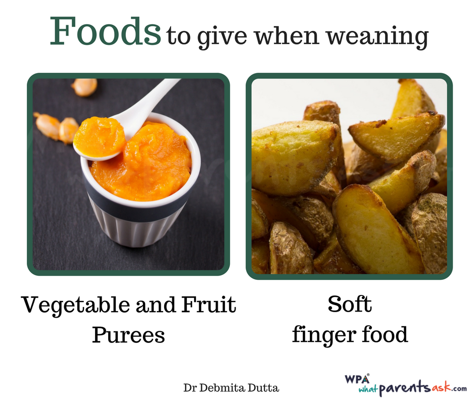 weaning foods for a baby