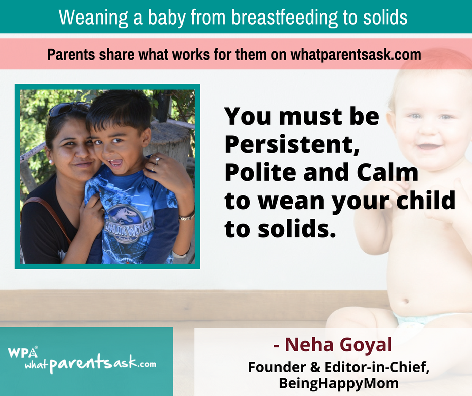Neha Goyal tips for weaning mothers
