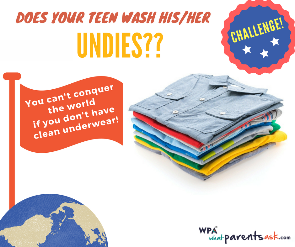 when your teen does not wash underwear