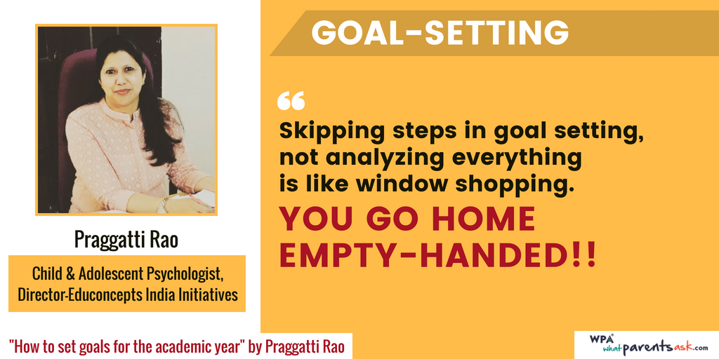 praggatti rao on academic goal setting