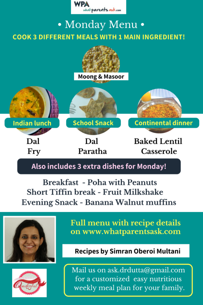 menu for monday by simran