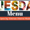 tuesday menu cook healthy meals every day