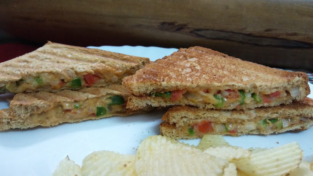 sandwich with veggies