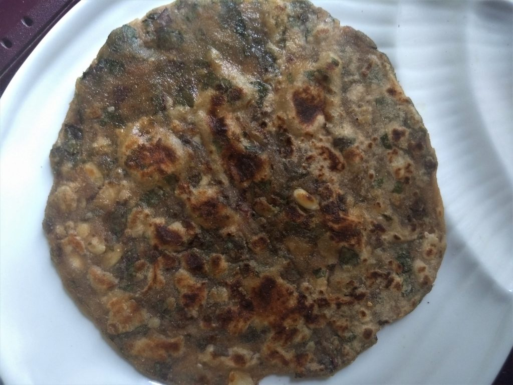amaranth paratha with seeds
