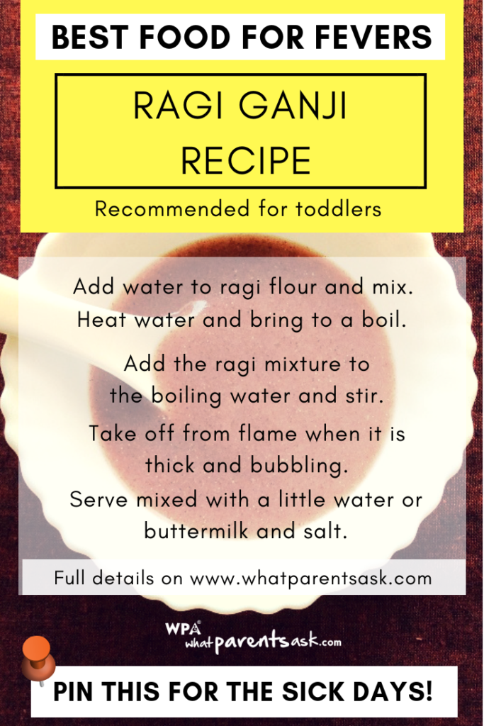 ganji recipe for toddlers during fever