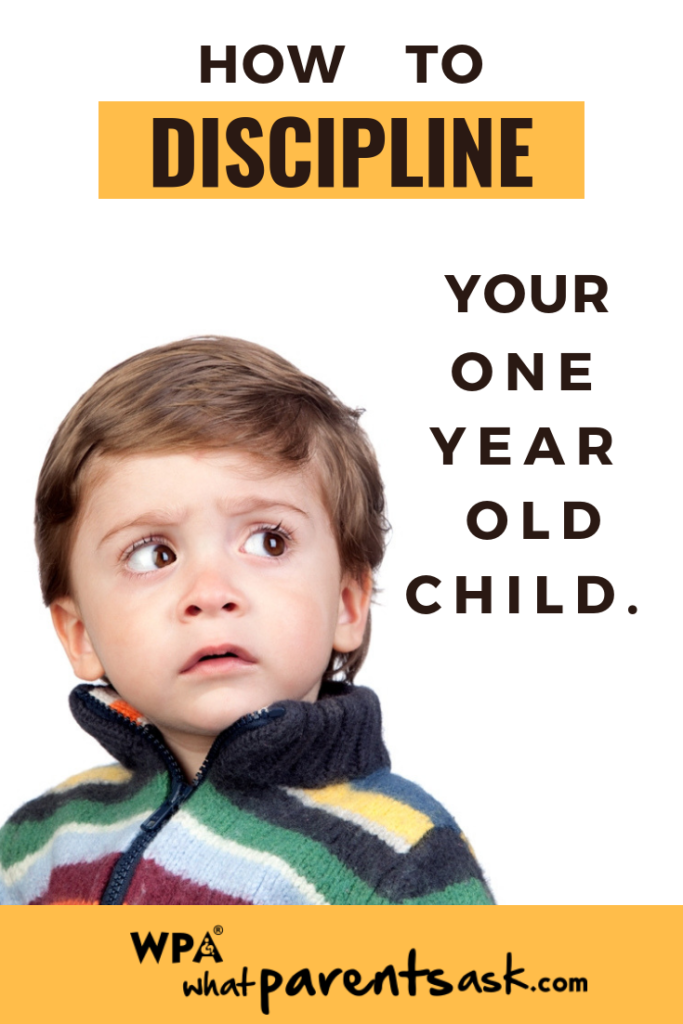 how to discipline a one year old