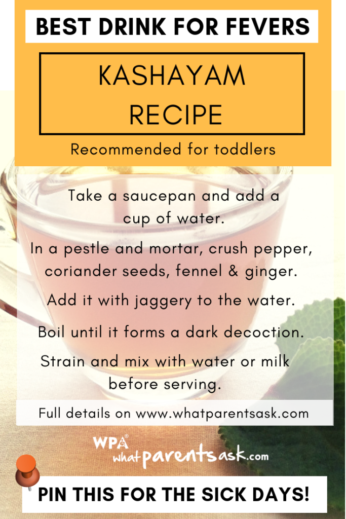 kashyam recipe for toddlers during fever
