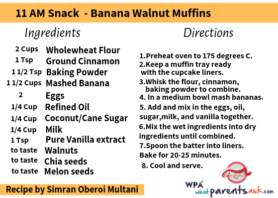 banana walnut muffins cookhealthymealseveryday