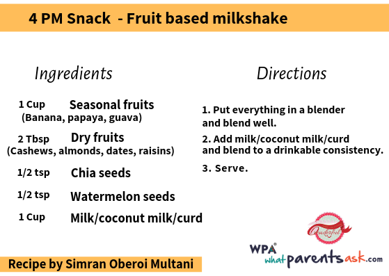 fruit based milk shake cookhealthymealseveryday