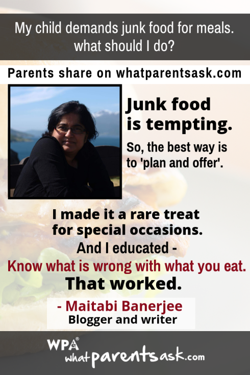 what to do when children want junk food