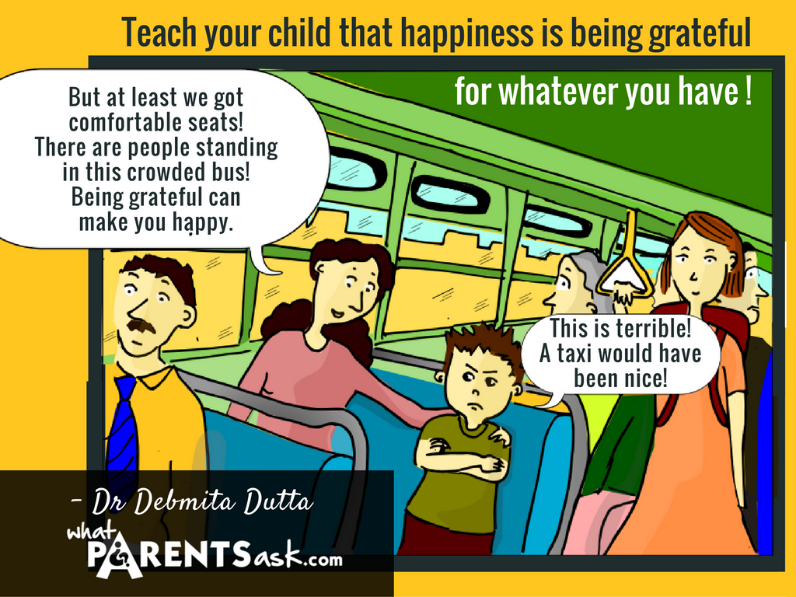 Happiness is being grateful