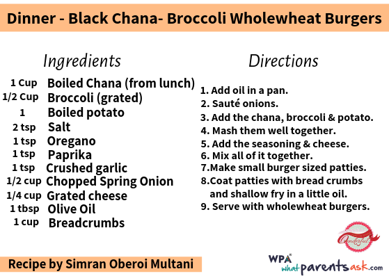 blaxk chana broccoli wholewheat burgers cookhealthymealseveryday