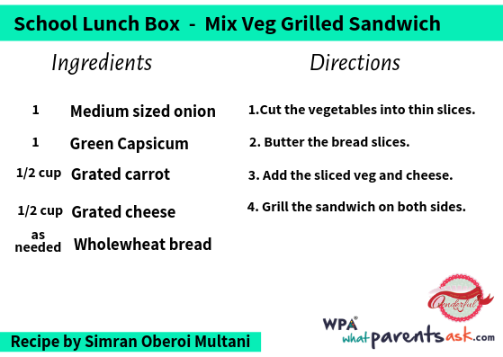 mix veg grilled sandwich cookhealthymealseveryday