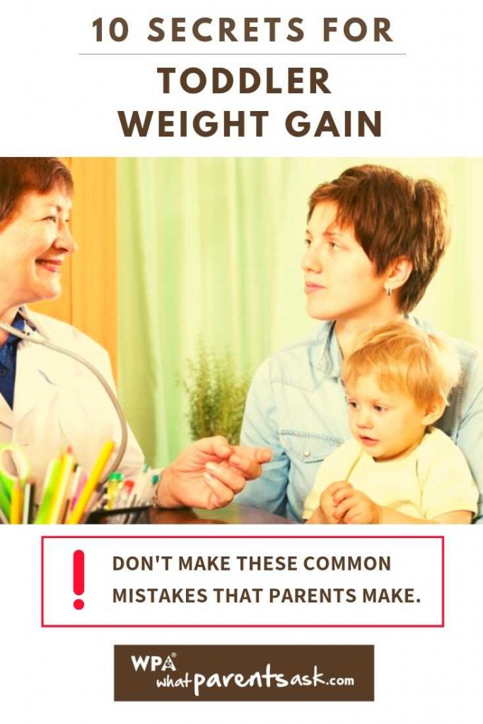 tips for toddler weight gain from a doctor
