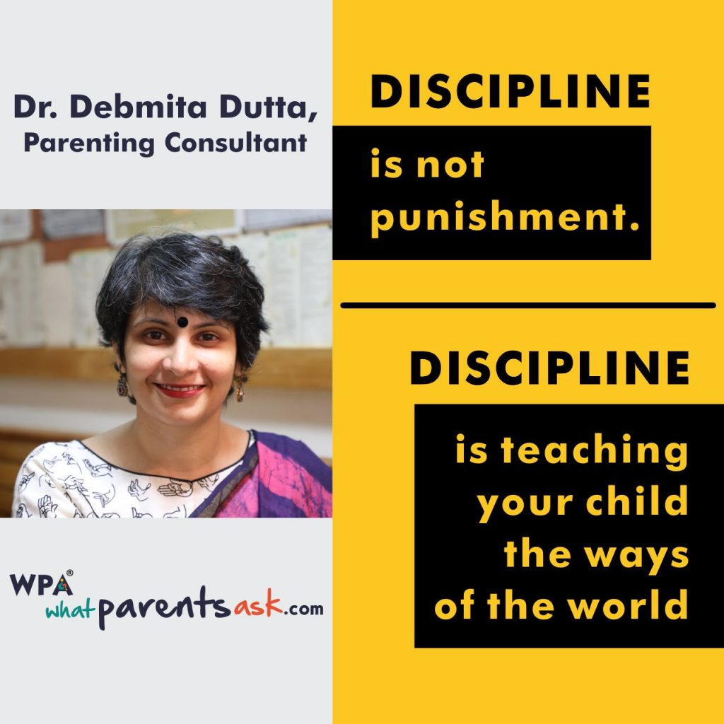 Discipline is teaching your child the ways of the world